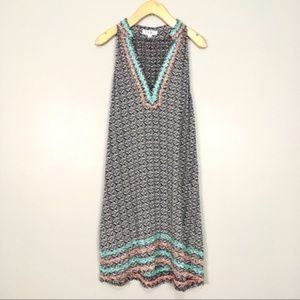 THML Embroidered Racerback Swing Dress